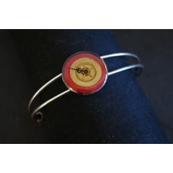 Bracelet laiton réglable rouge