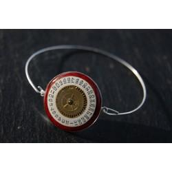 Bracelet fin argent rouge...